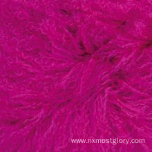 "16"" x 16"" Luxury mongolian lamb fur pillow for sale"