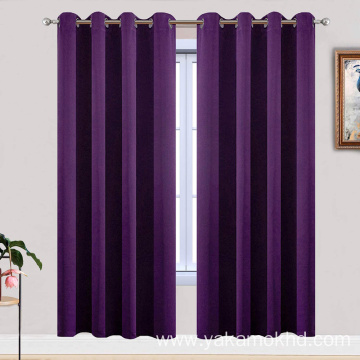 Purple Blackout Curtains 72 Inch Long
