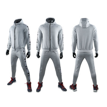 Multi-color sportswear grey tracksuit