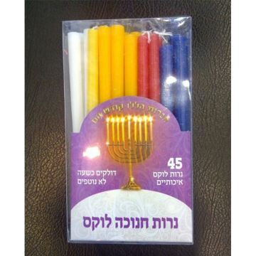 Multi-Colour Chanukah Paraffin Wax Candles