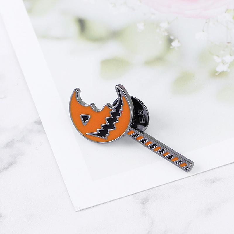 Jack O Lantern pins and broches orange enamel pumpkin monster brooch pumpkin lantern lapel pin badge funny Halloween gift kids