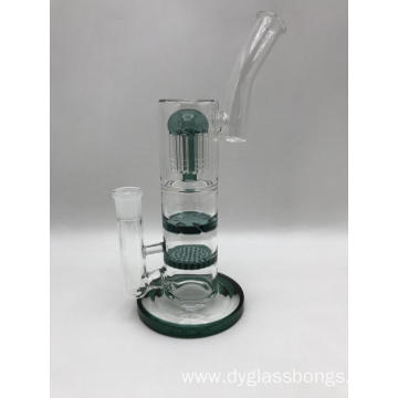 Cheap Small Glass Bongs with Three Fancy Percolators