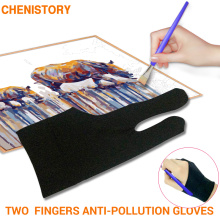 Two Finger Anti-fouling Glove For Artist Drawing & Pen Graphic Tablet Pad Household Gloves Right Left Hand Black Glove Free Size