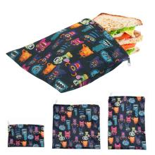 3pcs/set Reusable Food Storage Bags Leakproof Freezer Bag Reusable Sandwichs Bags Snack Bag Lunch Bread Bag for Food Storage New