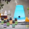 Lagunamoon Essential Oils 10ML 6pcs Gift Set Humidifier Aromatherapy Eucalyptus Papermint Lemongrass Orange Tea Tree Oil