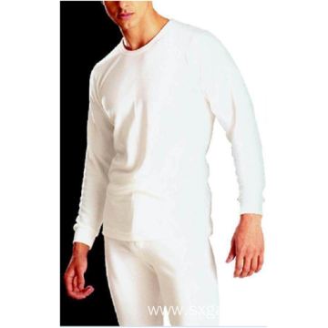 Men's 65%polyester 35%cotton underwear fleece inside