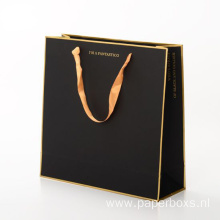 Luxury Custom Gold Foil Stamping Paper Shopping/Gift Bag