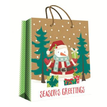 CHRISTMAS SERIES KRAFT GIFTBAG27-0