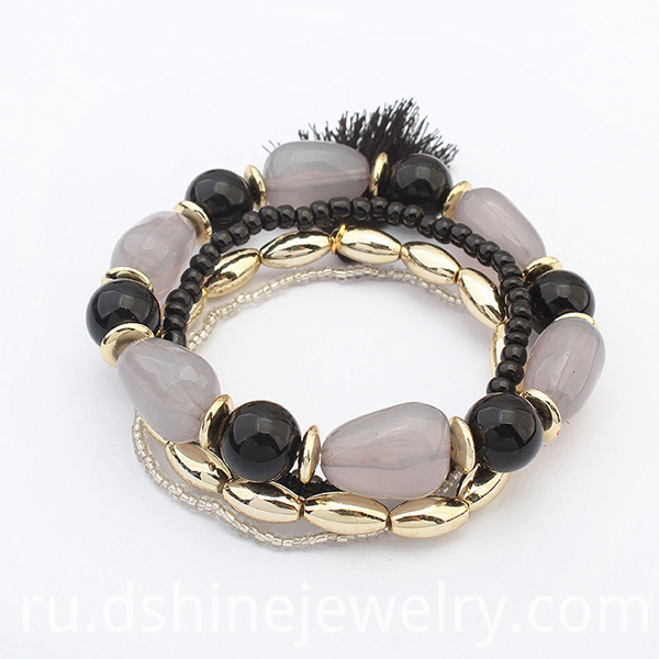 Multi Layer Stretch Beaded Bracelet