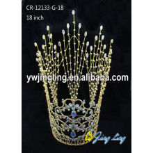Wholesale Rhinestone Gold Pageant Crowns