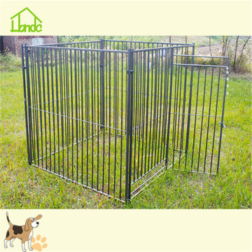 Production of welded mesh dog cage with tarp