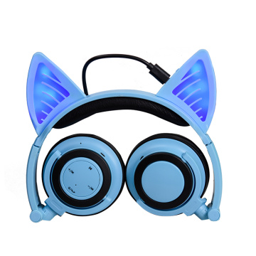 Cartoon Led Light Bluetooth Wireless Cat Earphone Telinga