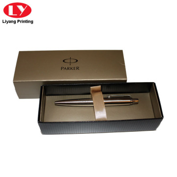 Gold Color Single Pen Paper Box