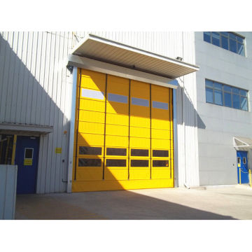 PVC curtain fast action stacking roller shutter