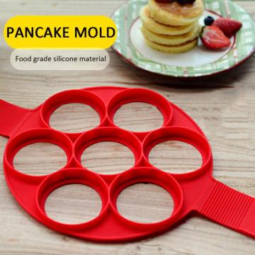 Fried Egg Mold Pancake Mold Maker Silicone Forms Non-stick Simple Operation Pancake Omelette Mold Kitchen Accessories