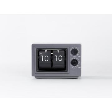 Mini Television Flip Clock With Light