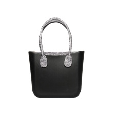 Women classic black EVA custom tote handbags