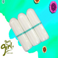 Comfortable cotton digital tampons with light size