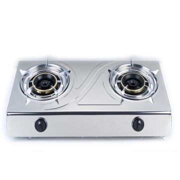 Stainless Steel Kitchen Table 2 Burner Stove