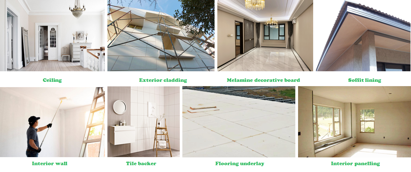 non-combustible melamine laminated ceilings