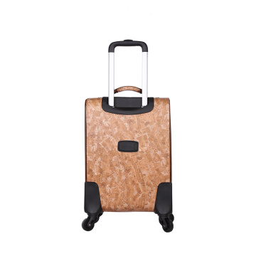 Custom PU carry-on waterproof trolley luggage