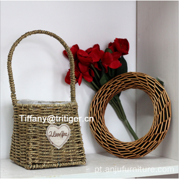 home decoration flowerpot vase basket seagrass woven flower Basket