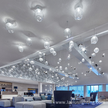 European classic superstore lobby Led art pendant light