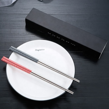High Quality Stainless 2 Pairs Chopsticks Gift Set