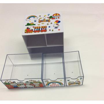 Plastic double-layer drawer storage box