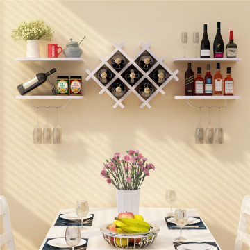 Stereoscopic Wooden Wine Shelf Hanging