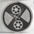 Wall Hanging Black Gear Wall Clocks for Decoration
