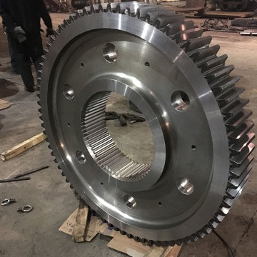 Hard tooth face large forged drive ring gear