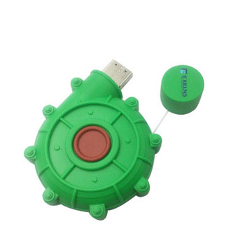 PVC USB Flash drive Green Snail Shape