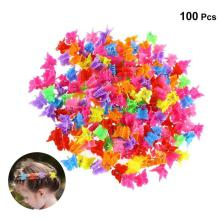 100Pieces Mini Butterfly Hair Clips Grip Claw Barrettes Butterfly Clips Colorful Hairpin Headdress Hair Styling Tool