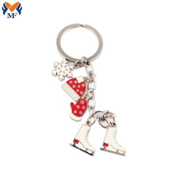 Gift Metal Custom Christmas Shoe Keychain