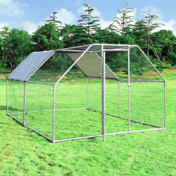 Gibbon Large Metal Chicken Coop,  Hen Run House Shade Cage
