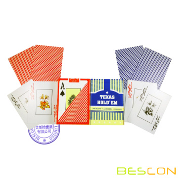 High quality custom printing 100% plastic playing cards