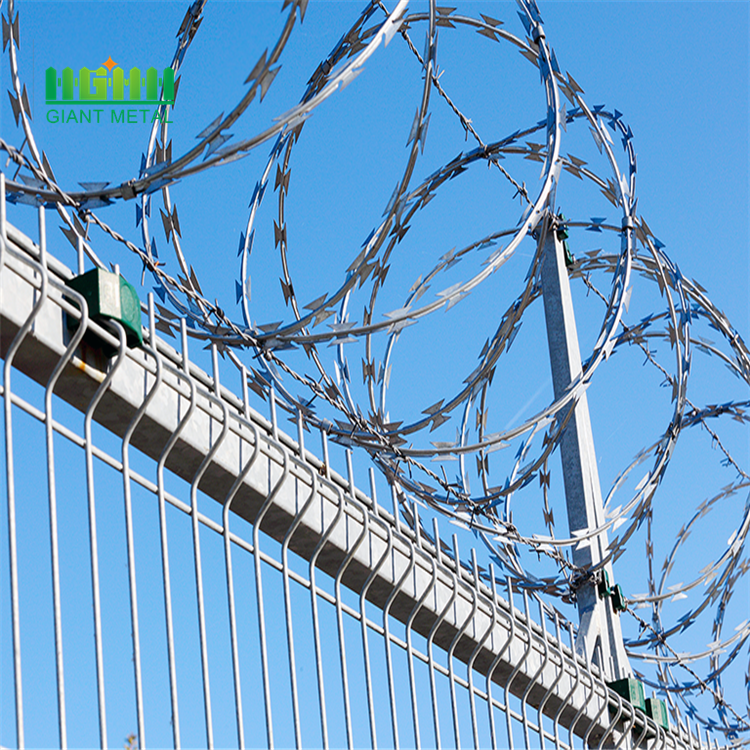 Hot Sale Galvanized BTO-22 Razor Barbed Wire