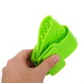 1pcs Green Silicone Pot Pan Bowl Funnel Strainer Kitchen Rice Washing Colander Kitchen Accessories Cooking Tools