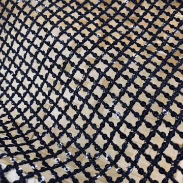 Grid Pattern 3MM Sequin Guipure Embroidery Fabric