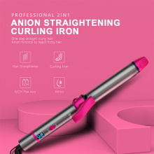Bubble hair wand curling iron for long hair