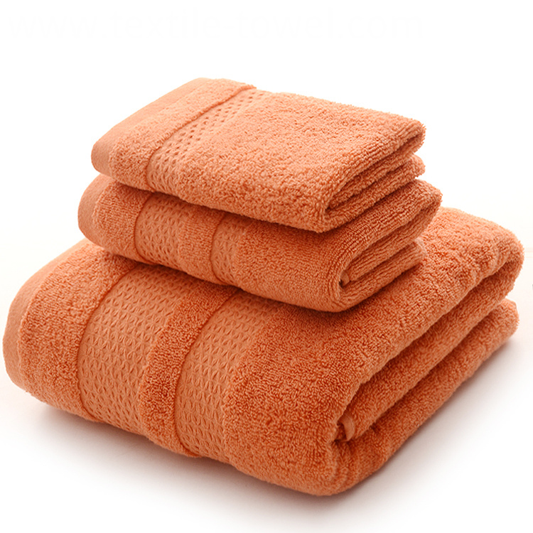 Bath Towels Set in Melonade