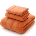 Solid Color Bath Towels Set in Melonade