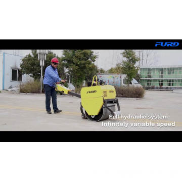 Mini Single Drum Soil Roller Compactors with Imported Pump (FYL-750)