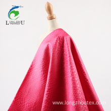 Emboss Spandex Light Satin Fabric