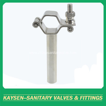 Sanitary Hexagon pipe holder with tube hanger