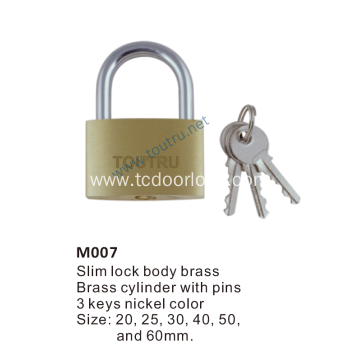 M007  Slim European Brass Padlock