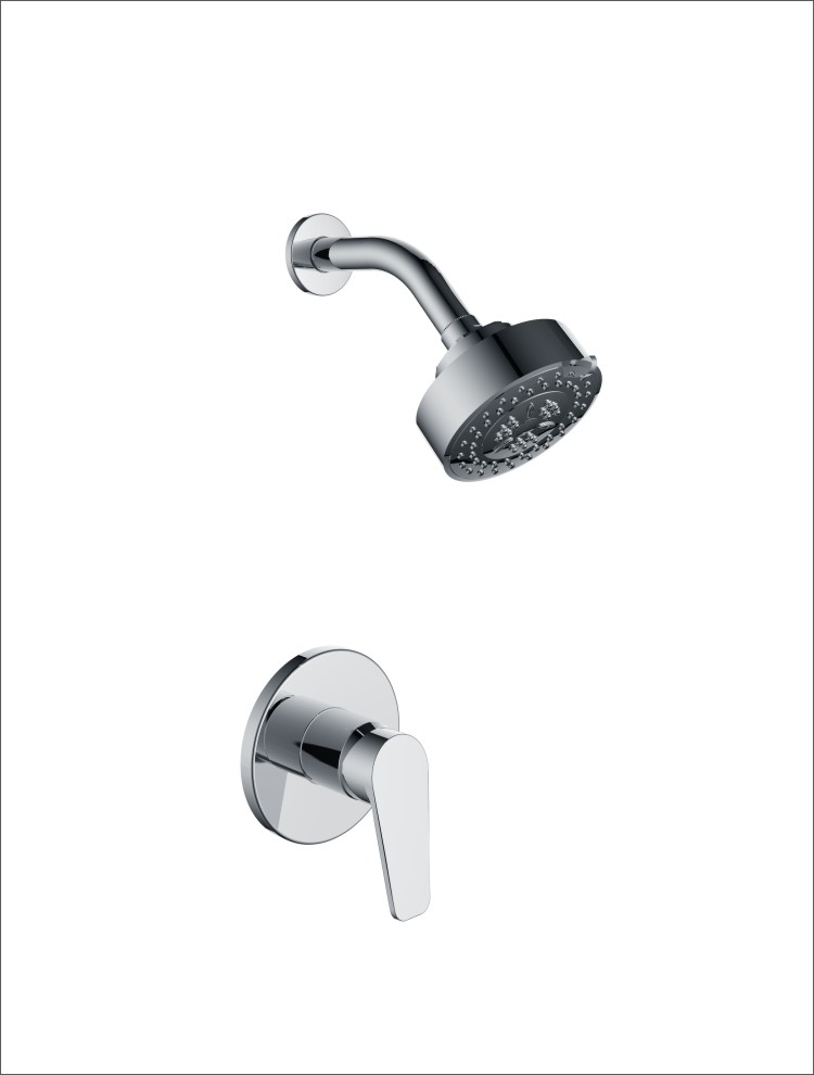 Circle panel concealed Bathroom Shower Mixer