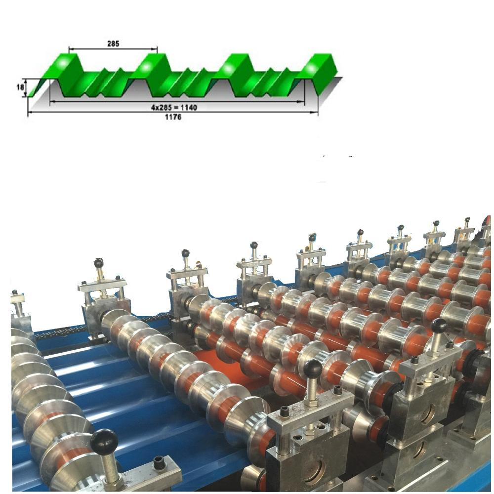 main roll forming system of roof tile making machine