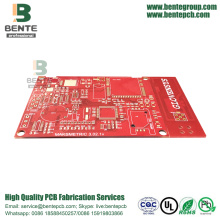 "Red Ink 4 Layers PCB IT180 High TG PCB ENIG 3u"" Thick Gold"